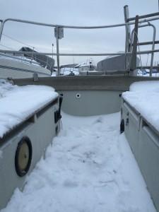 Helt fyldt op med sne - uuh!