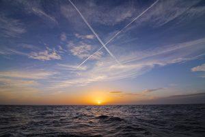 Solnedgang på vejen fra Porto Cristo til Menorca, Ciutadella