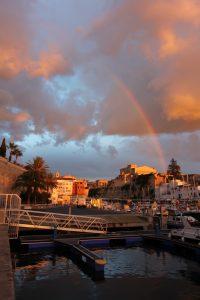 Regnbue i Ciutadella havn