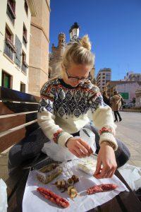 Sidste solskindsdag inden stormen i Castellón - spiser tapas fra det lokale marked