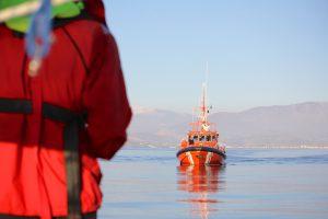 Den spanske kystvagt og redningsmænd